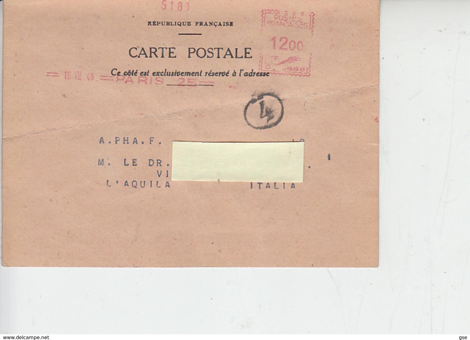 FRANCIA  1948 - Salute - Farmacia - Farmacia