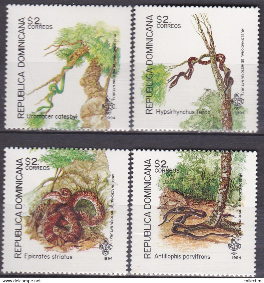 DOMINICAINE (REPUBLIQUE) 1994 1159 à 1162 ** REPTILES - Non Classés