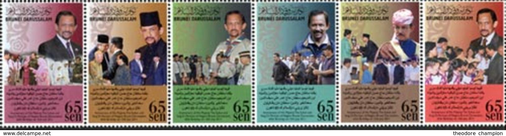 BRUNEI 65ann. Du Sultan 6v 2011 Neuf ** MNH - Brunei (1984-...)
