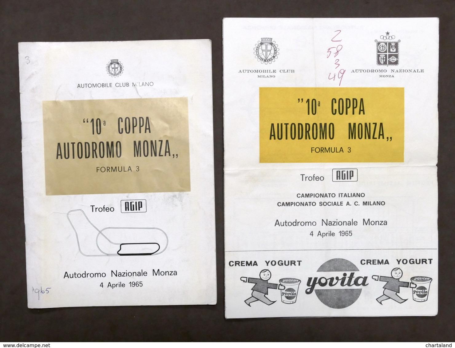 10^ Coppa Autodromo Monza - Formula 3 - Trofeo Agip - Aprile 1965 - Regolamento - Other