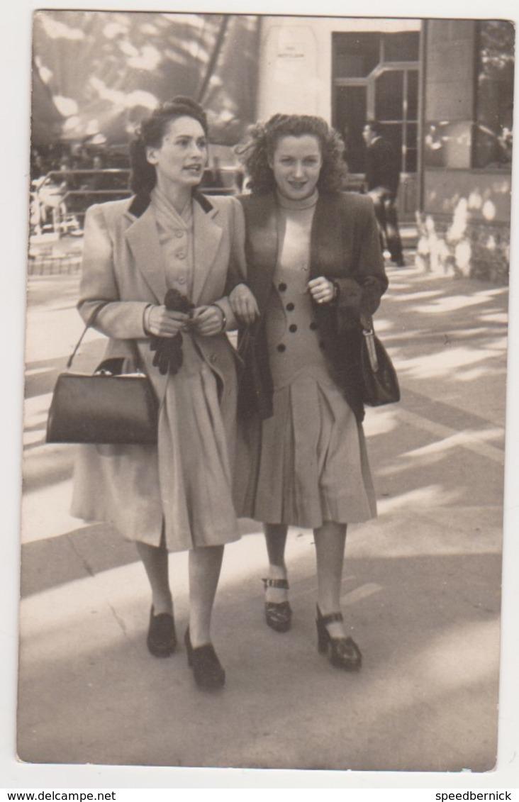 27010 Photo Azur Photo Marseille 13 France -2 Nov 1947  -mode Femme Plage - Lieux