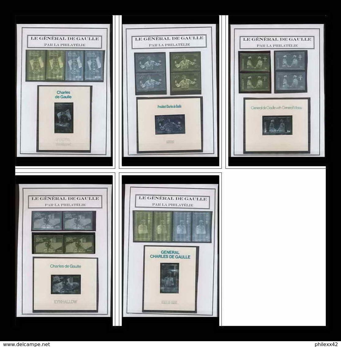 260 Charles De Gaulle - Neuf ** MNH Collection De Timbres OR (gold Stamps) Et Argent épreuve De Luxe / Deluxe Proof - Collections (en Albums)