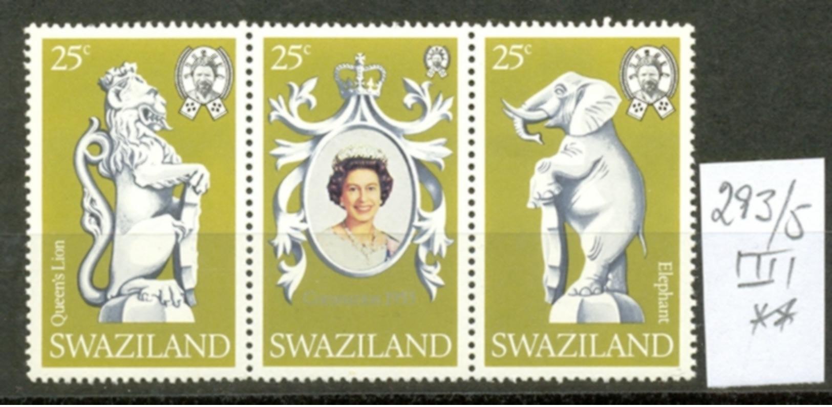 SWAZILAND - 293/5  Jahrestag Der Krönung  Kpl.Ausg. Postfrisch - Swaziland (1968-...)