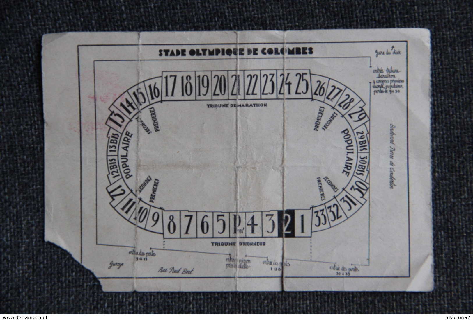 Ticket D'entrée Football - Finale De La Coupe De FRANCE 1938/1939, Racing Club Paris / Olympique LILLOIS. - Tickets - Vouchers