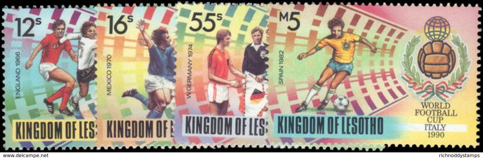 Lesotho 1989 World Cup Football Unmounted Mint. - Lesotho (1966-...)