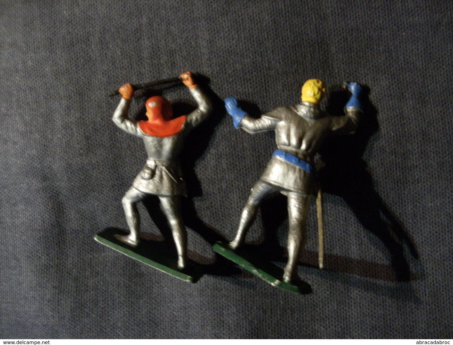 2 Figurines Starlux Moyen Age -- Avec Manques - Starlux