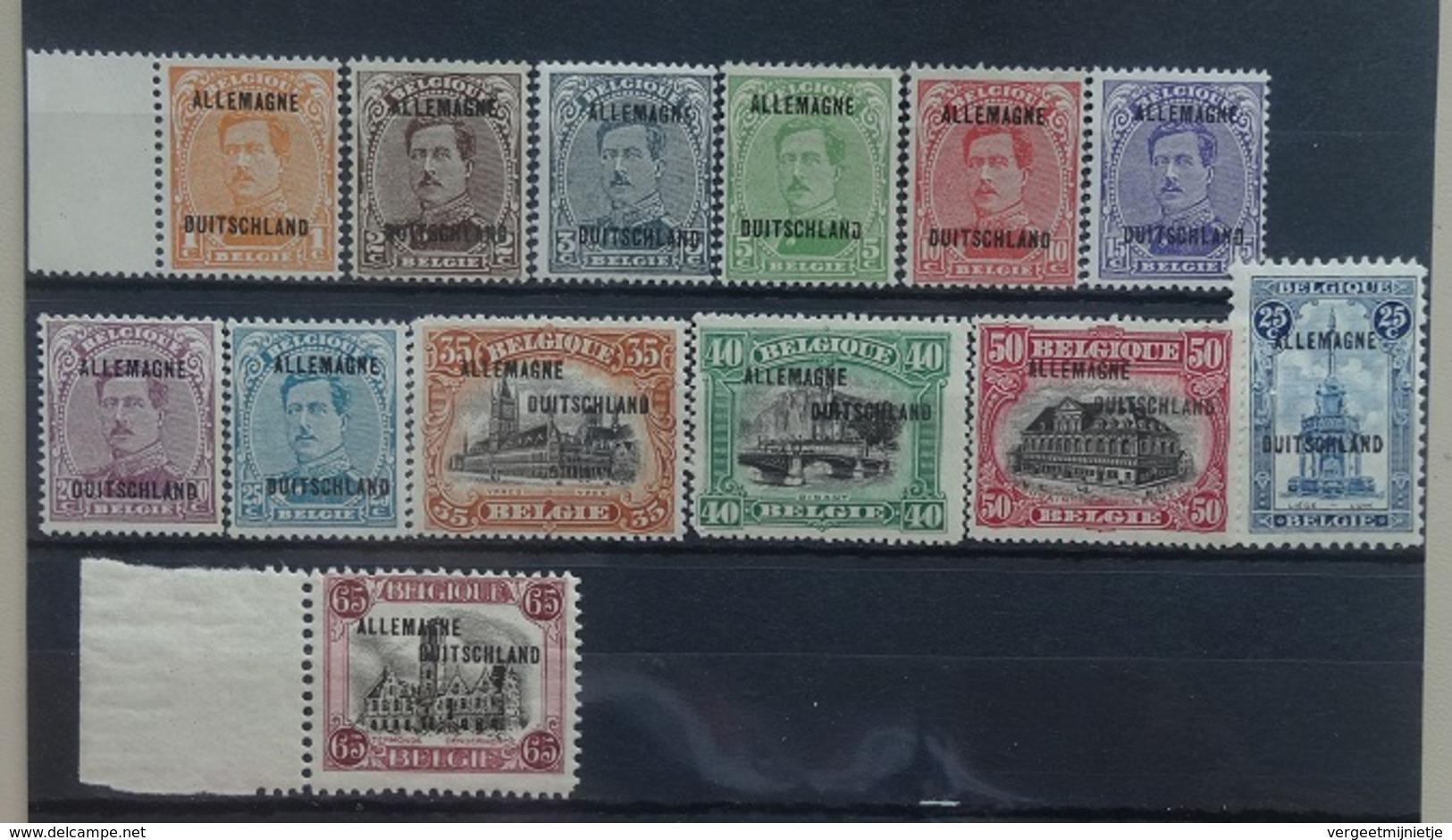 BELGIE  1919   Bezettingszegels   OC 38  - OC 50    Postfris **     CW  87,00 - Guerre 14-18