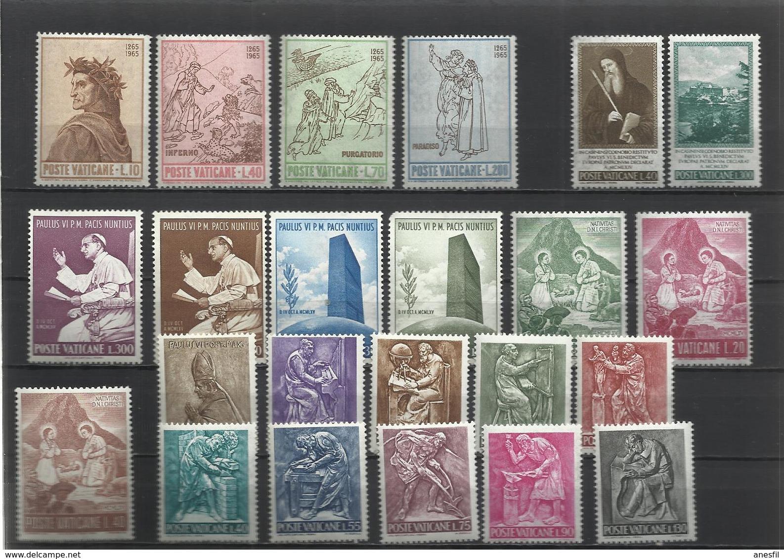Vaticano. 5 Series Completas De Los Años 60 - Sellos