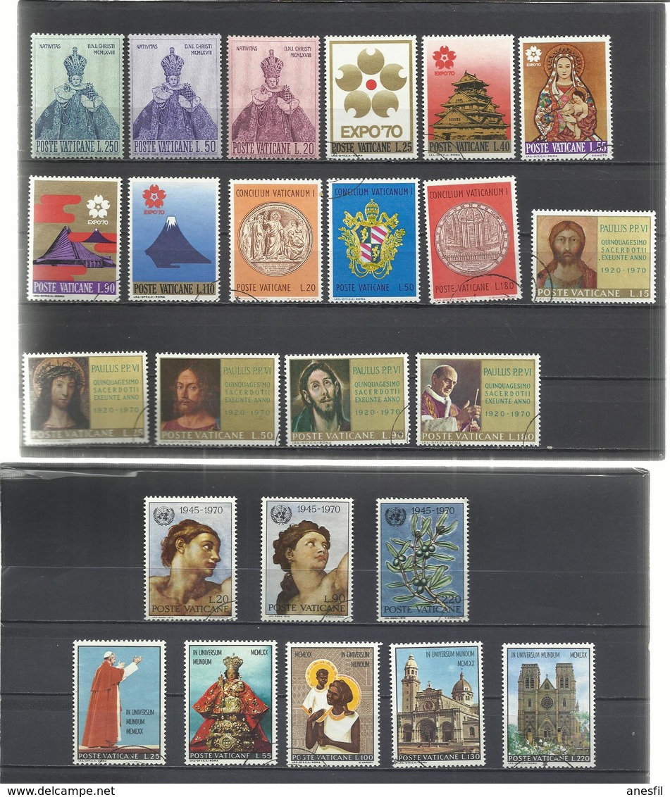 Vaticano. 6 Series Completas - Sellos