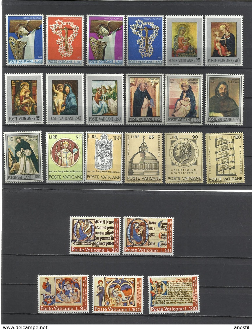Vaticano. 1971 Y 1972. Lote De 6 Series Completas - Mezclas (max 999 Sellos)