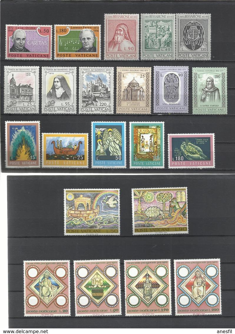 Vaticano. Lote De 7 Series Completas Años 70 - Sellos