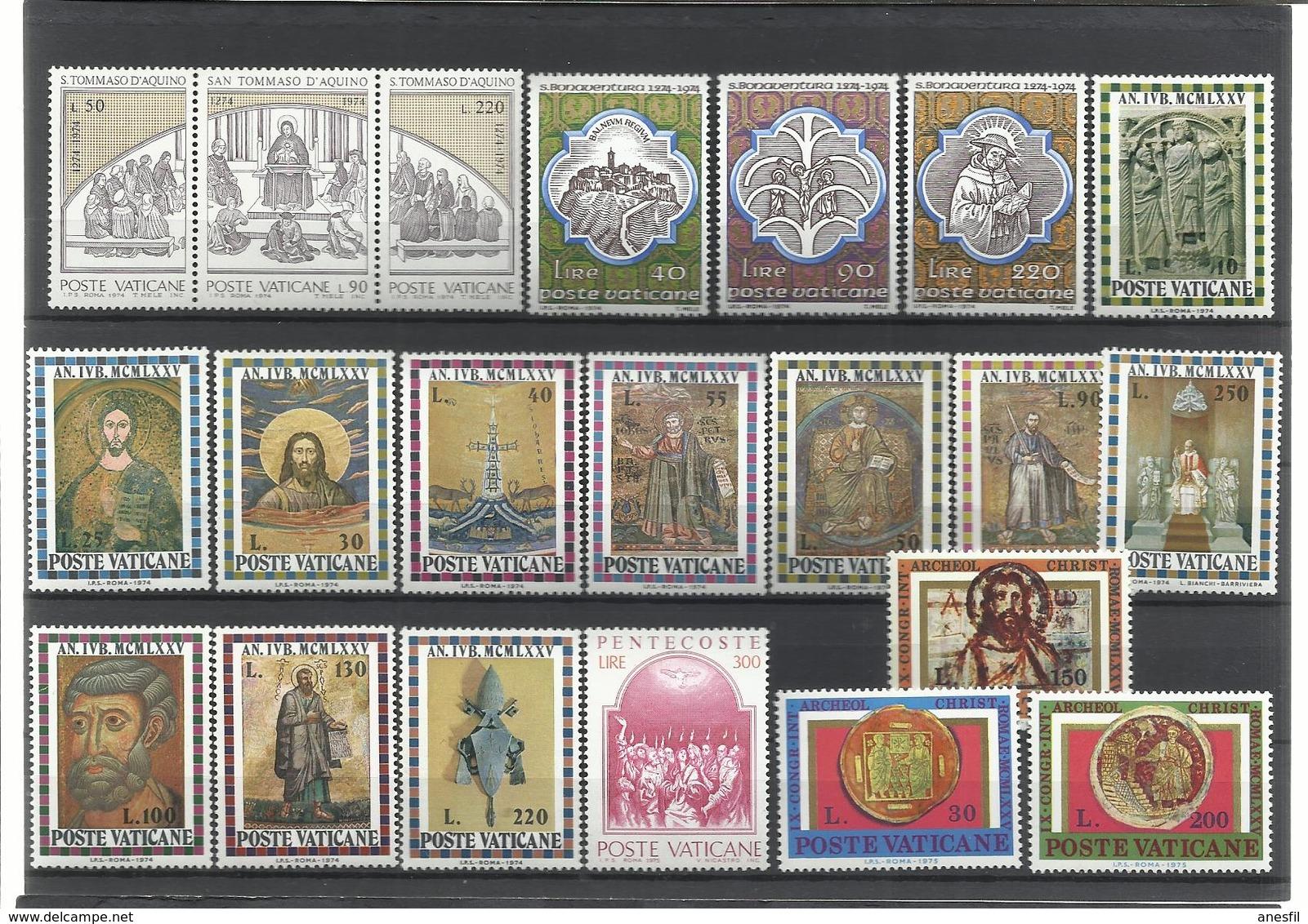 Vaticano. Lote De 5 Series Completas Años 70 - Sellos