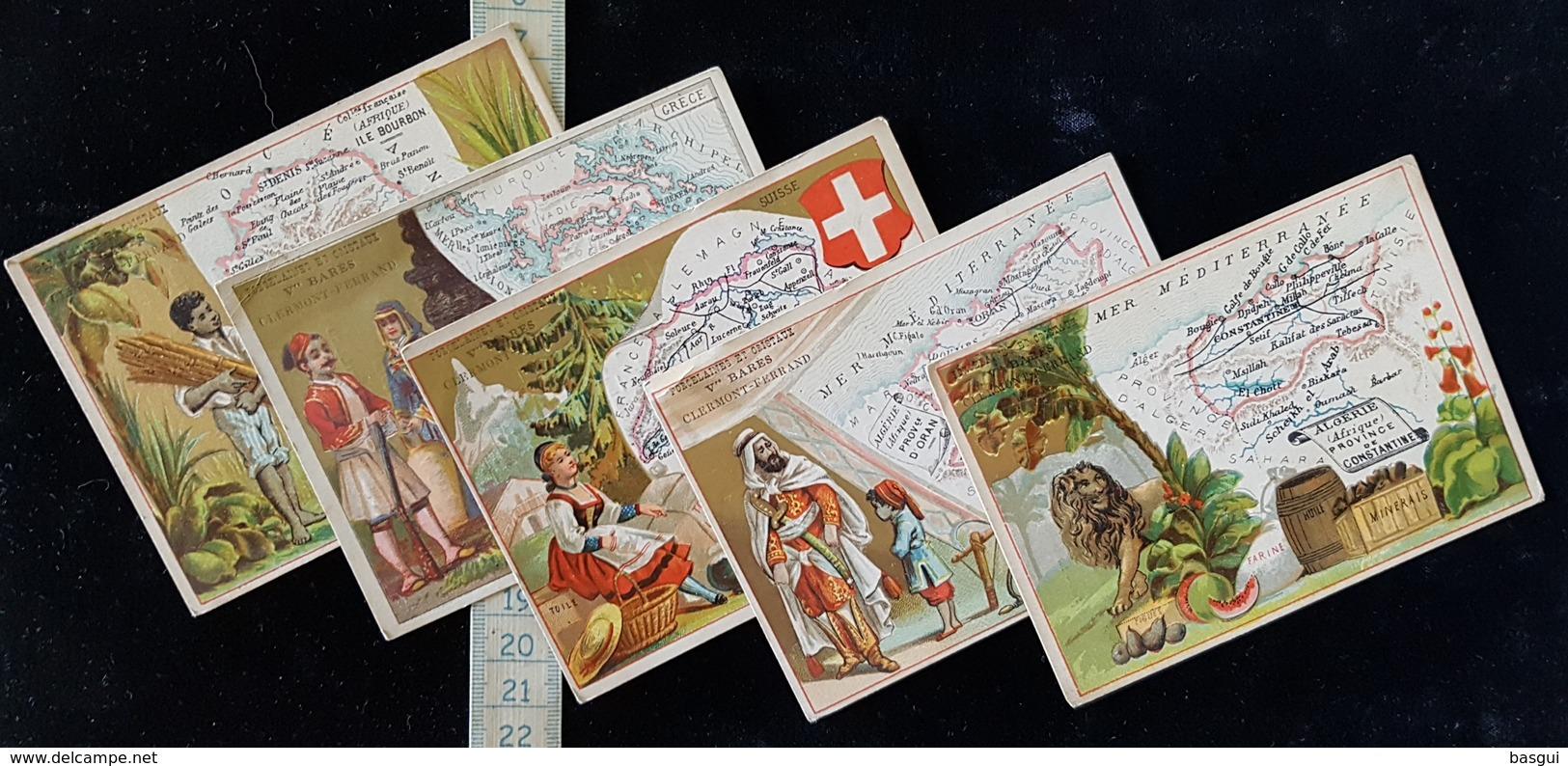 """5 Cartes Chromos  Pub """"Porcelaines Bares""""      A Clermont Ferrand - Cromo"""