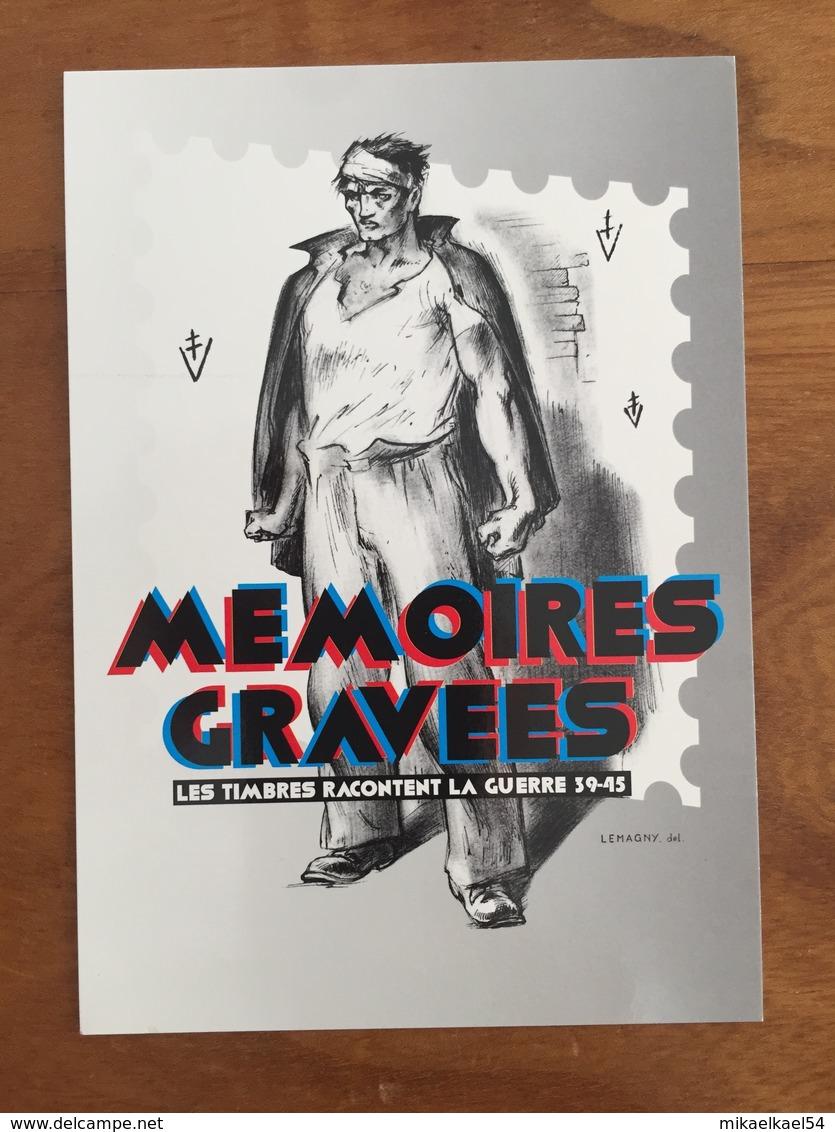 """CARTE POSTALE PRE TIMBREE DU MUSÉE DE LA POSTE """"MÉMOIRES GRAVÉES, GUERRE 39-45"""" - 2015 - Neuf - Prêts-à-poster: TSC Et Repiquages Semi-officiels"""