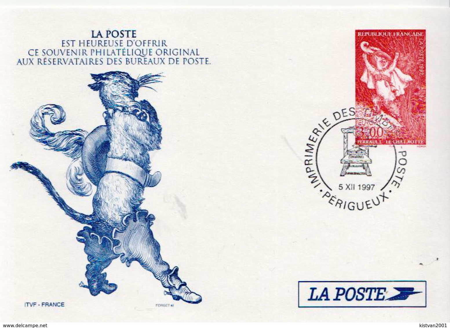France Cancelled Postal Stationery - Fairy Tales, Popular Stories & Legends