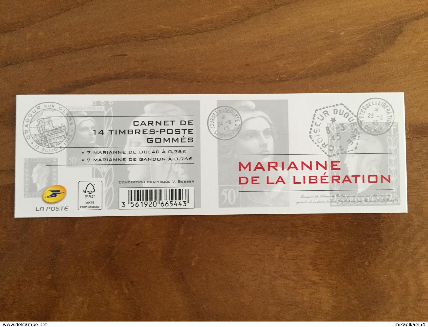 CARNET MARIANNE DE LA LIBÉRATION - Y&T 1522 - 2015 - Gommé, Neuf ** - Carnets