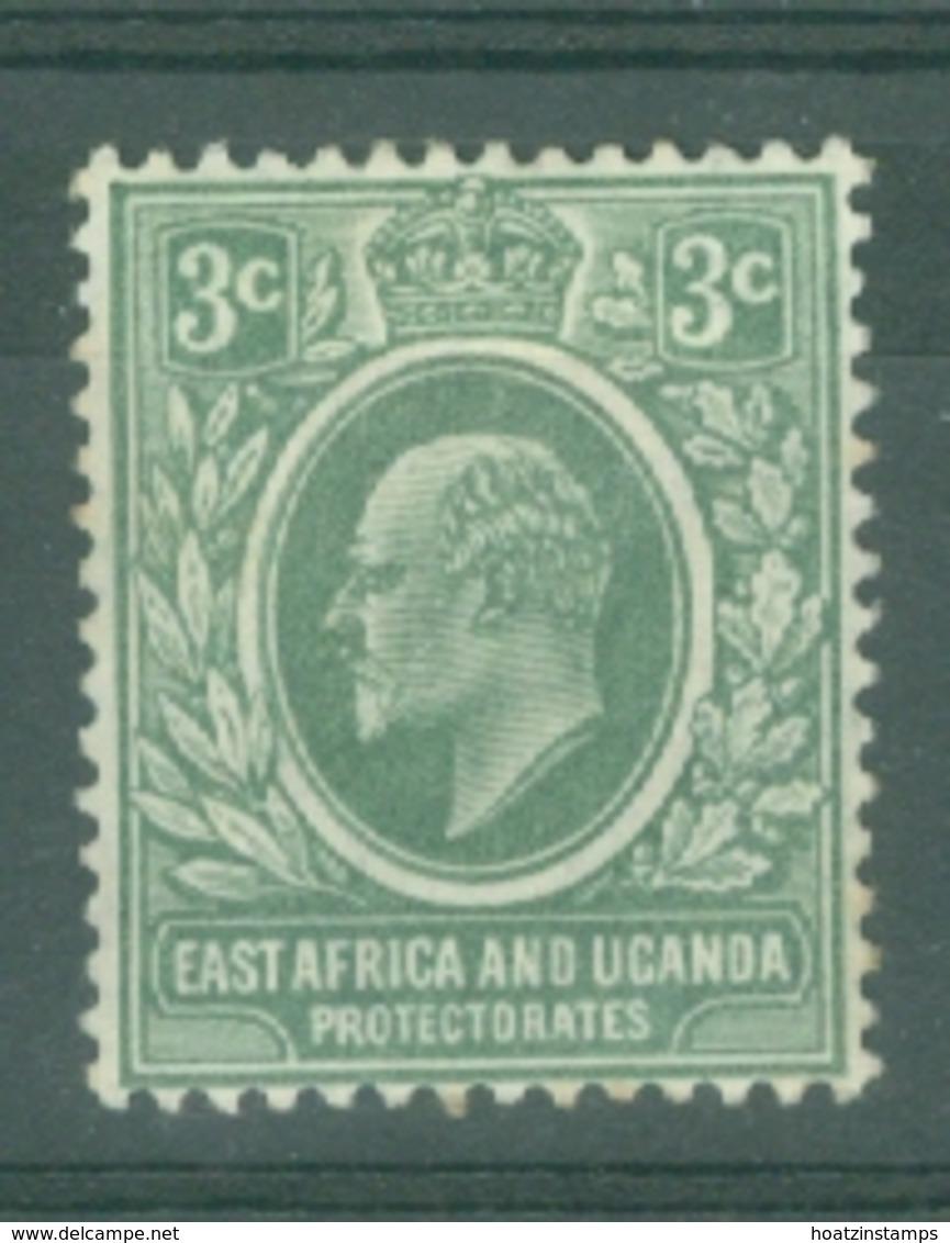 East Africa & Uganda Protectorates: 1907/08   Edward    SG35   3c   Grey-green   MH - Protectorados De África Oriental Y Uganda