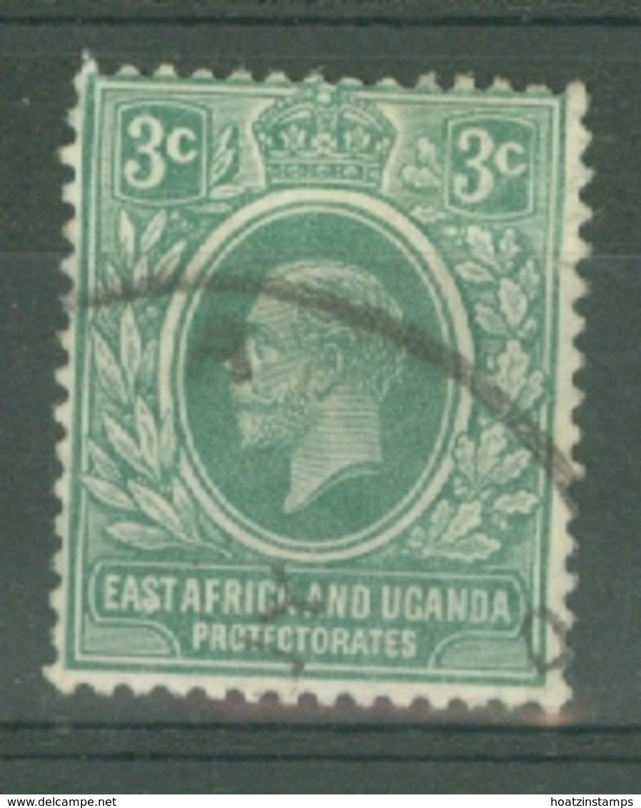 East Africa & Uganda Protectorates: 1912/21   KGV    SG45   3c   Green   Used - Protectorados De África Oriental Y Uganda