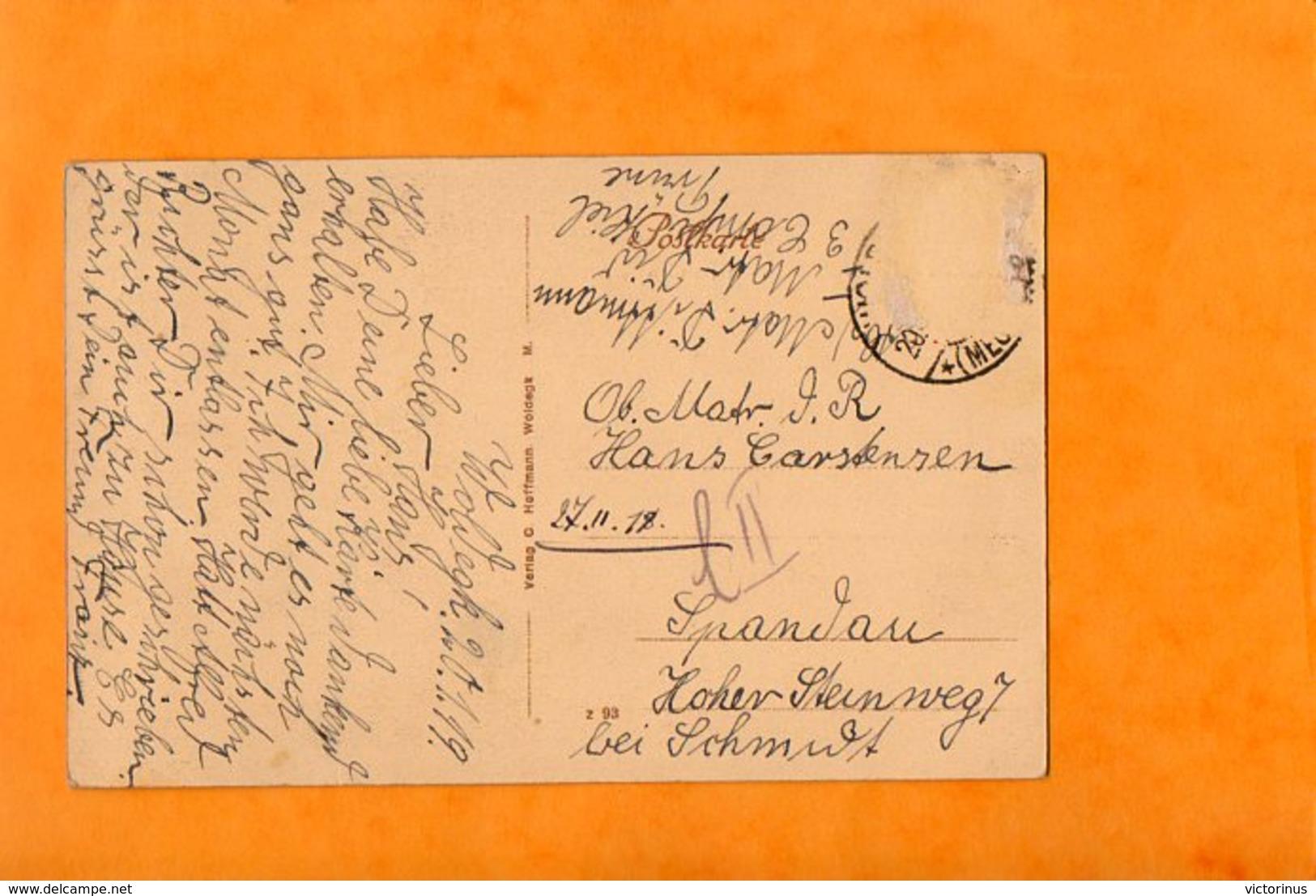 WOLDEGK  -  GRUSS AUS....  BEAMTENHAUS  -  ZUCKERFABRIK  -  Janvier 1919 - Deutschland