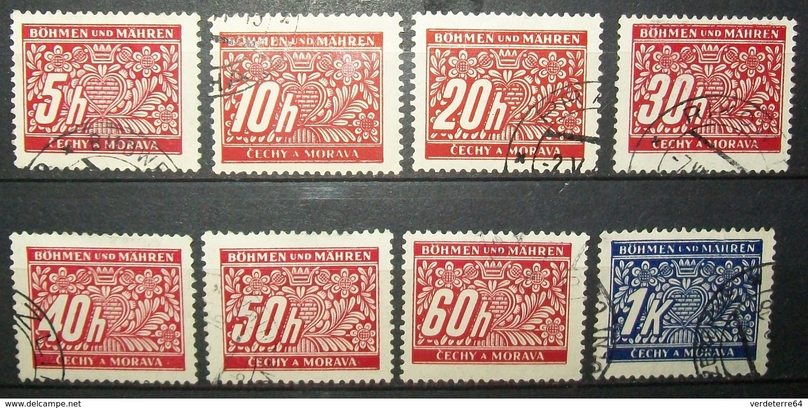 N°492A TIMBRES DEUTSCHES REICH OBLITERES - Bohême & Moravie