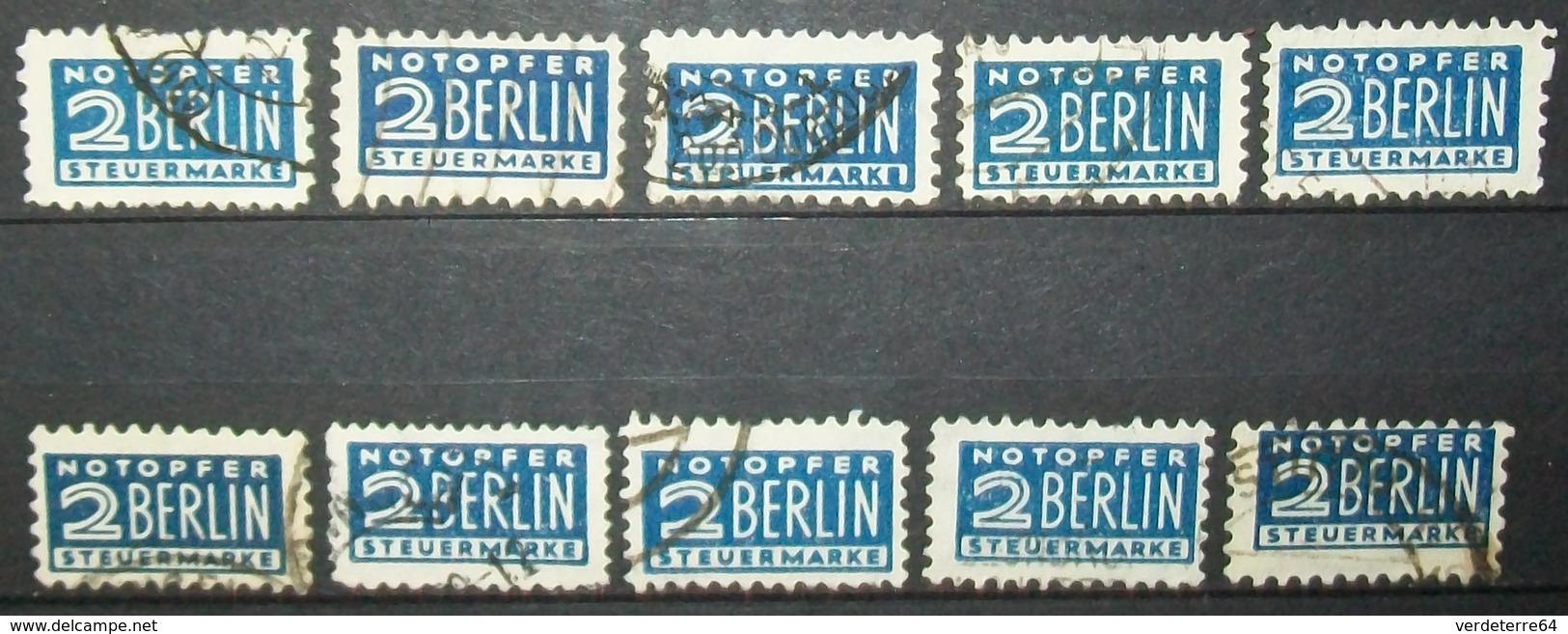 N°494A TIMBRES BERLIN STEUERMARKE OBLITERES - Oblitérés