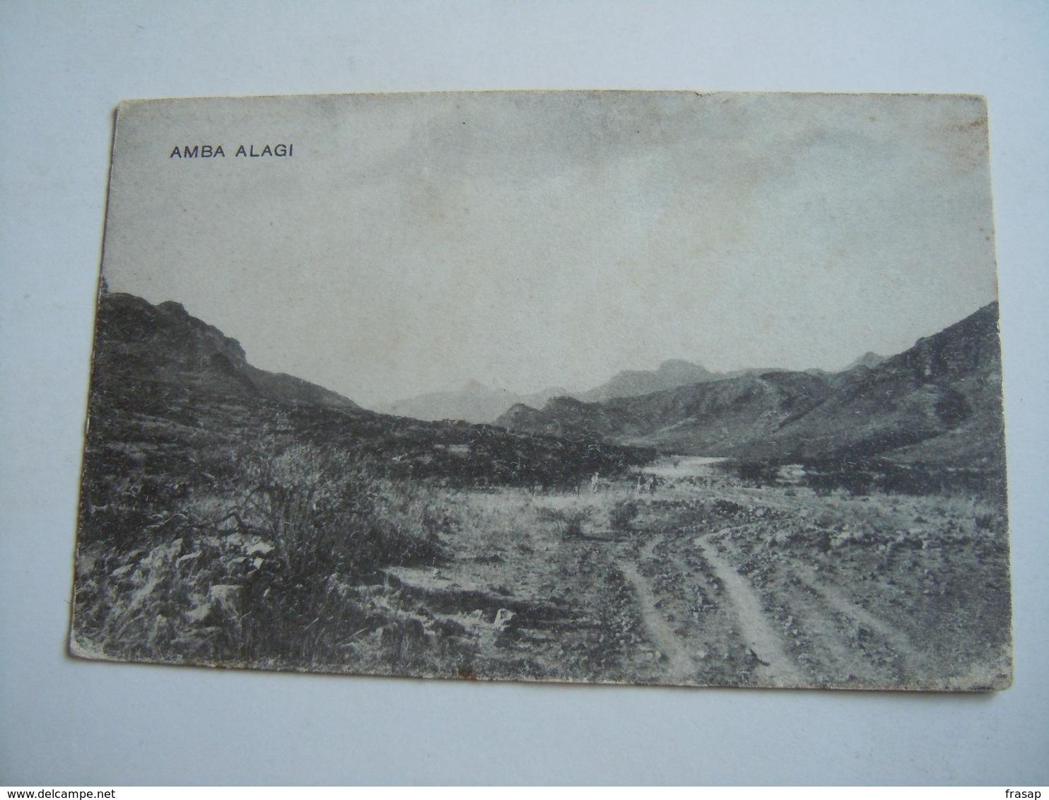 CPA-KP-PC-  ETIOPIA éthiopien - COLONIA ITALIANA -- AMBA ALAGI - Somalie