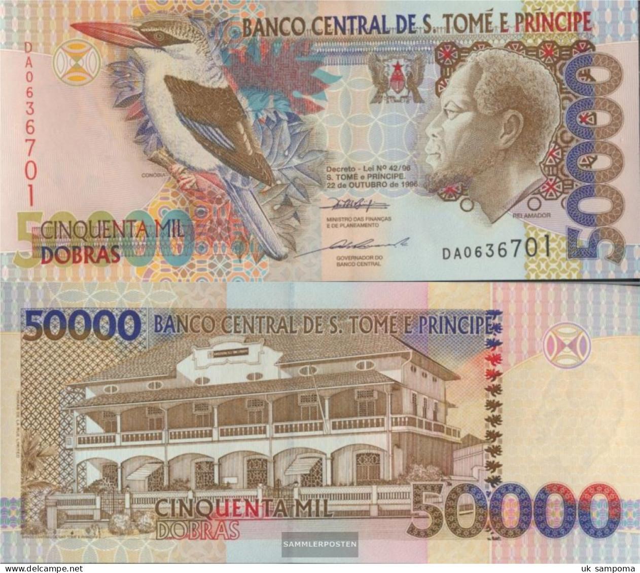 Sao Tome E Principe Pick-number: 68a Uncirculated 1996 50.000 Dobras - Sao Tome And Principe