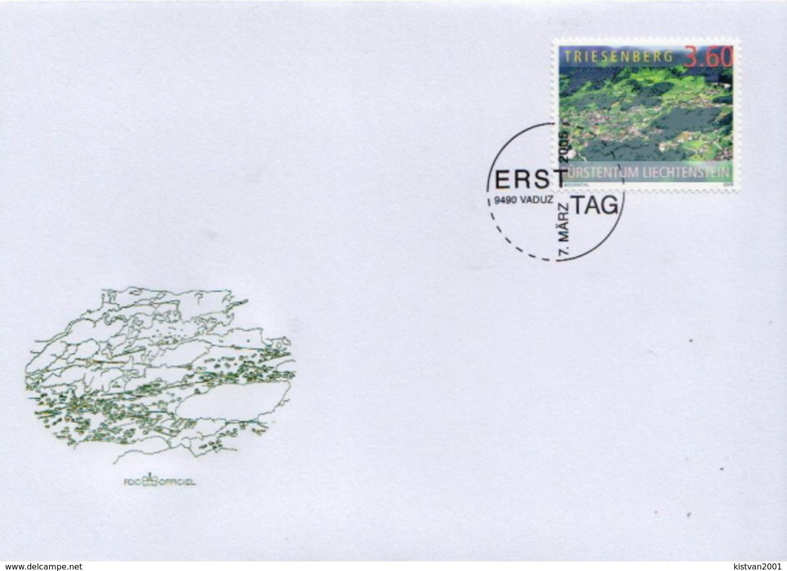 Liechtenstein Stamp On FDC - Holidays & Tourism