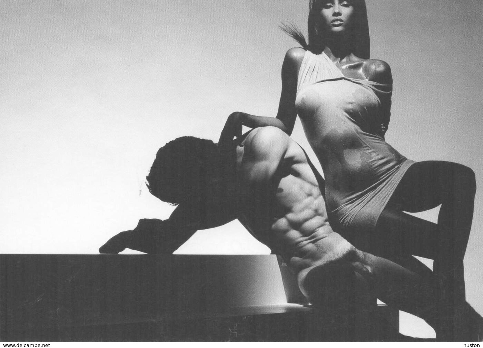 1991 - Iman With Nude - Femme, Homme Nu - Vintage Divas < 1960