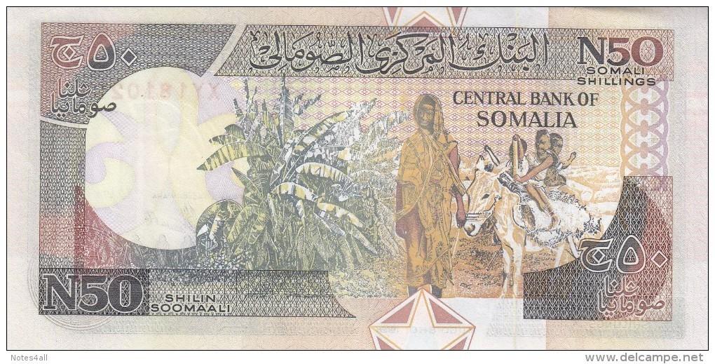 SOMALIA 50 N SHILLINGS 1991 P-R2 MAQADISHO FORCES ISSUE LOT X 5 UNC NOTES */* - Somalia