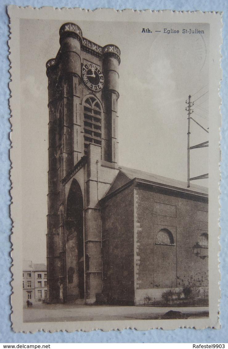 CPA ATH Eglise Saint Julien - Ath