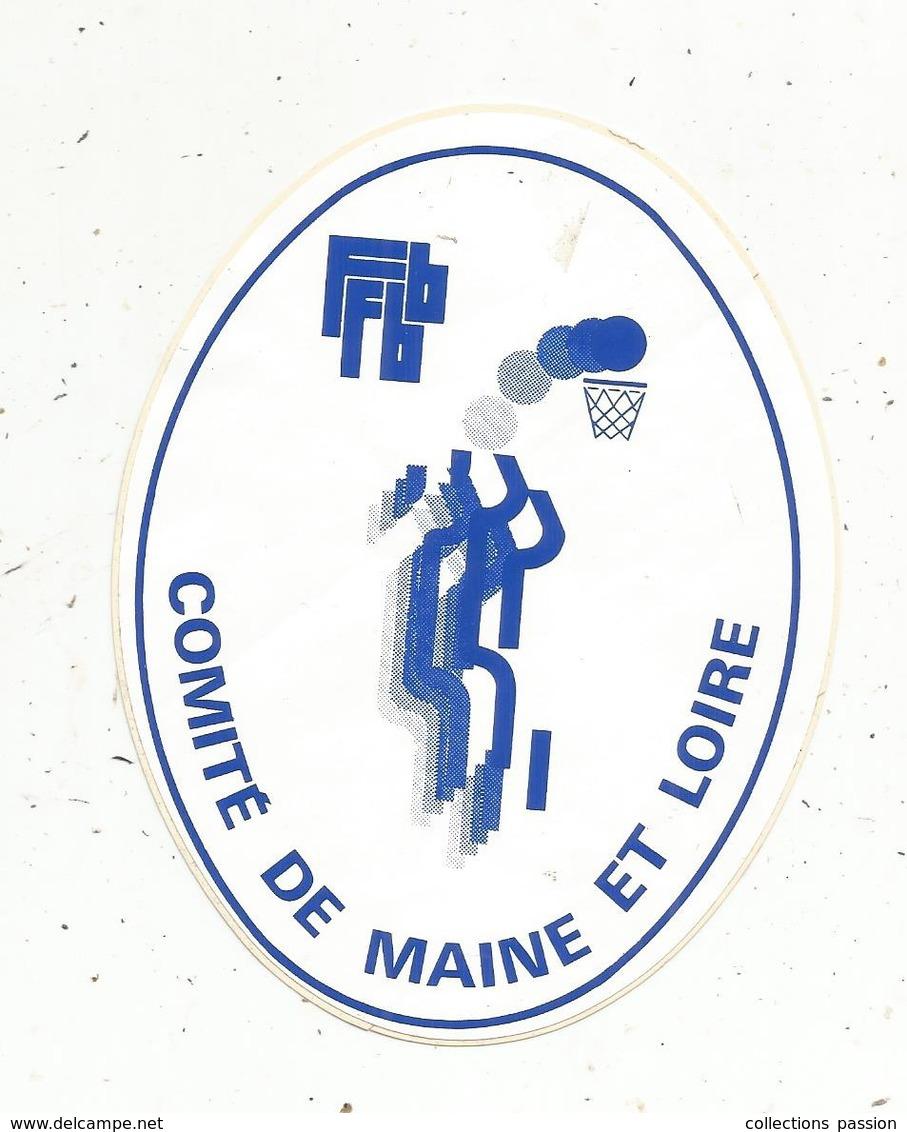 Autocollant , Sports , Basket , FFBB , Comité De MAINE ET LOIRE - Aufkleber