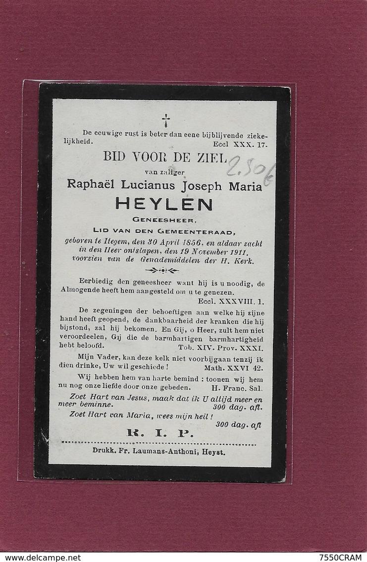 RAPHAEL LUCIANUS JOSEPH MARIA HEYLEN:  GENEESHEER- ITEGEM- BIJ-HEIST-OP-DEN-BERG- - Décès