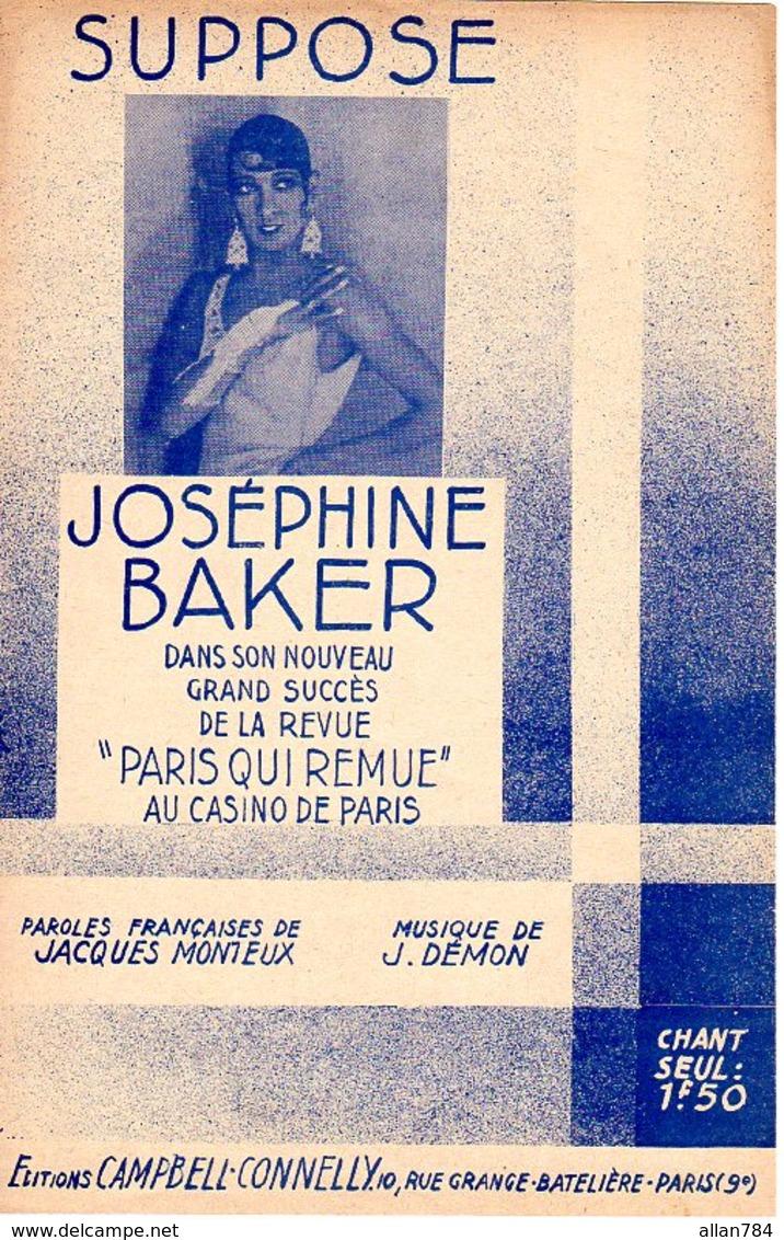 PARTITION JOSEPHINE BAKER - CASINO DE PARIS - TITRE : SUPPOSE - 1931 - EXC ETAT - - Music & Instruments