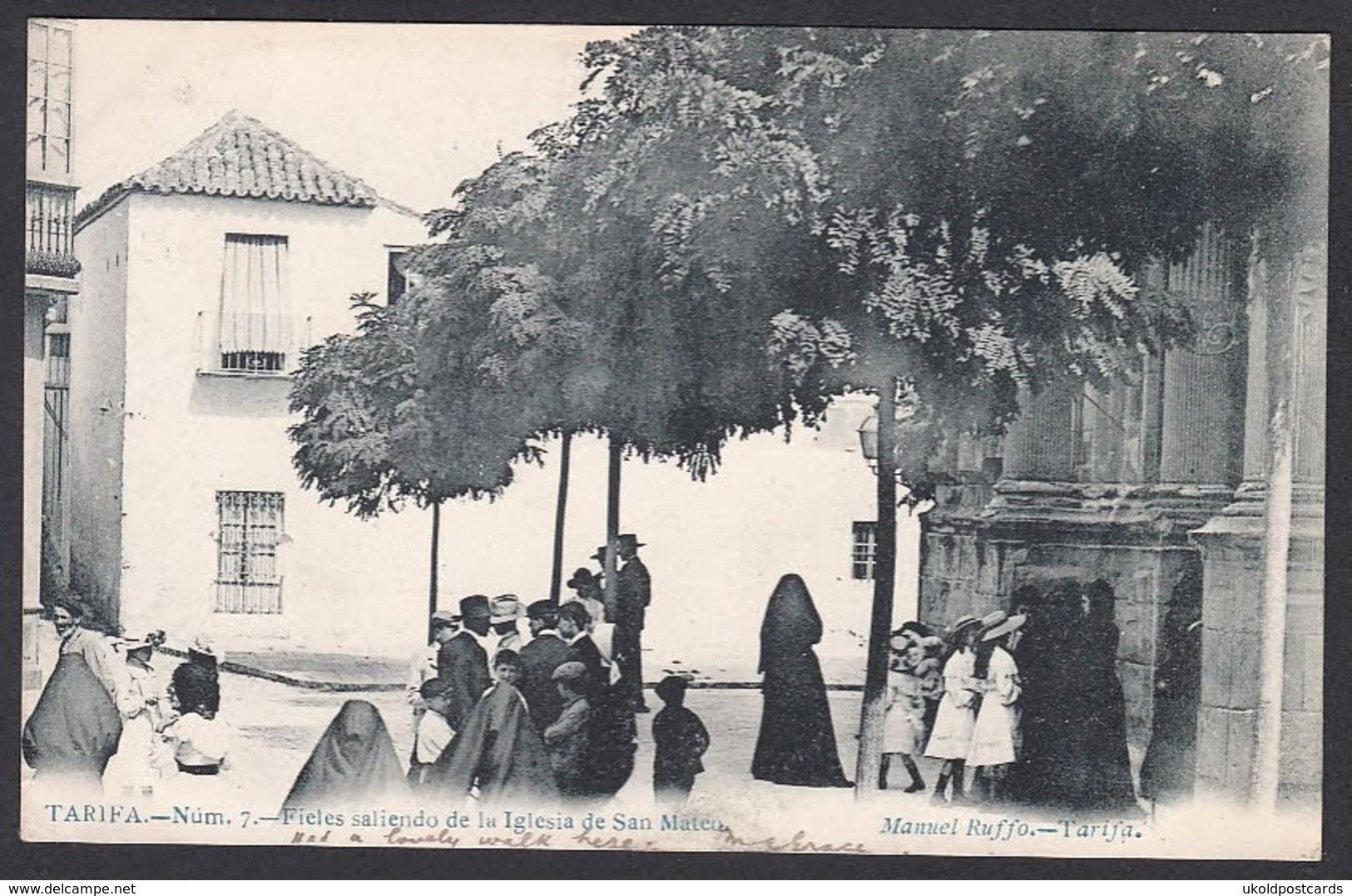 CPA - Espana / Spain -  TARIFA, Fieles Saliendo De La Iglesia De San Mateo, 1905 - Cádiz