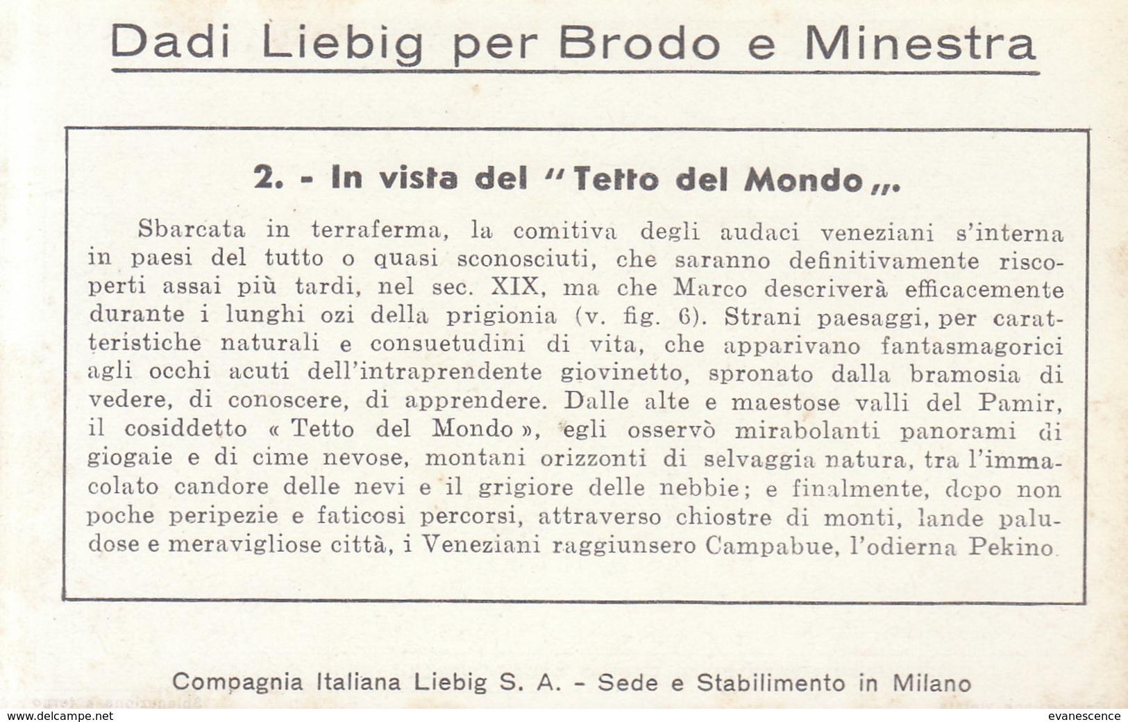 CHROMOS LIEBIG / ITALIE / LOT DE 6 /  MARCO POLO   ////   REF.  AOUT 19 /  LOT N° 18 - Liebig