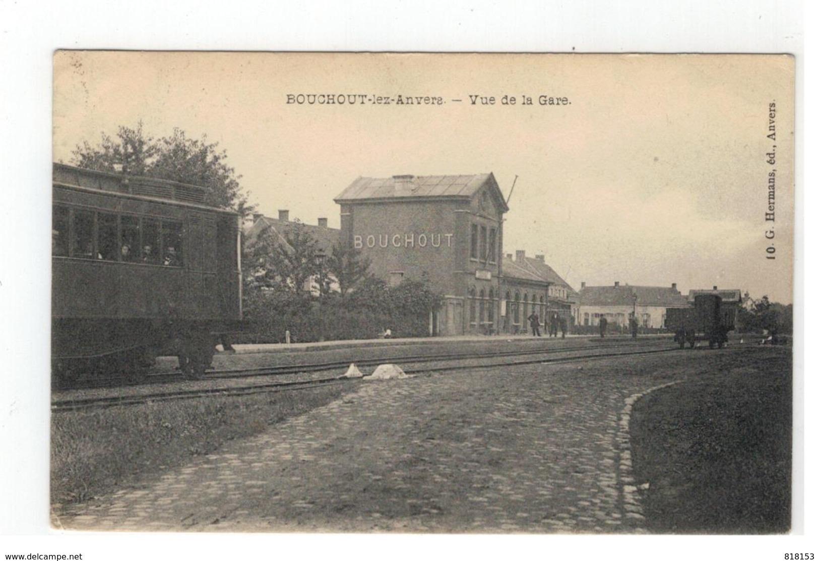 Boechout  Bouchout-lez-Anvers   - Vue De La Gare 1912 - Boechout
