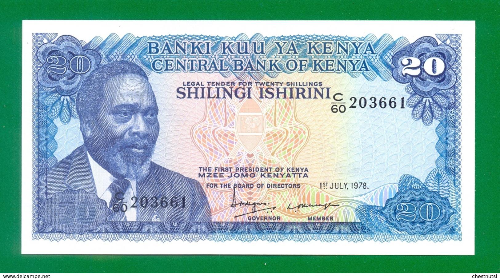 Kenya 20 Shillings 1978 P17 UNC - Kenya