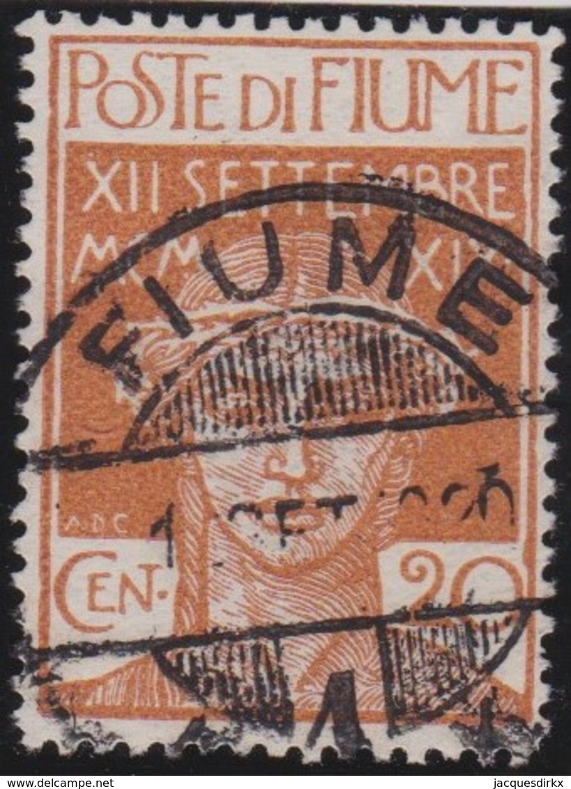 Fiume   .     Yvert     .    112     .     O      .    Oblitéré     .    /   .   Cancelled - Fiume
