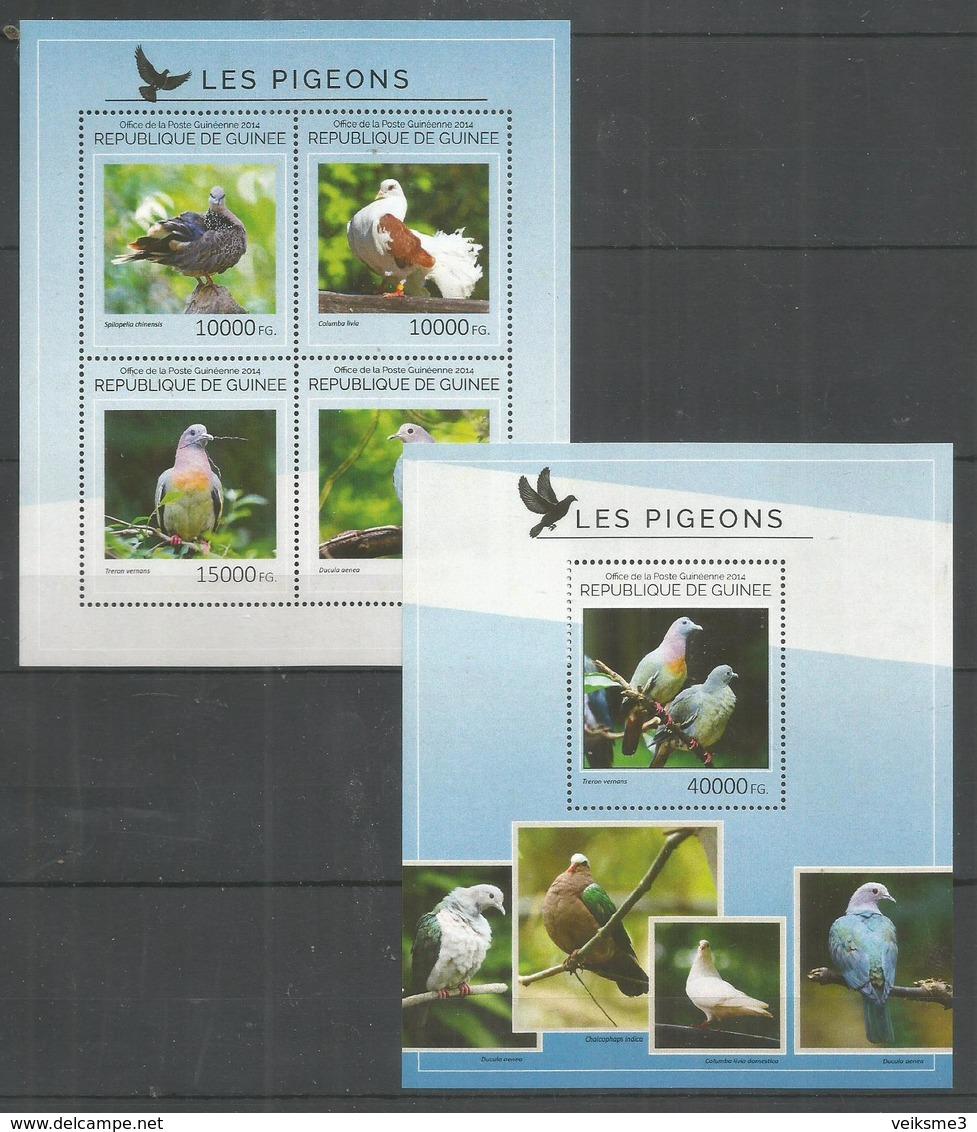 GUINEA - MNH - 2014 - Animals - Birds - Pigeons - Birds