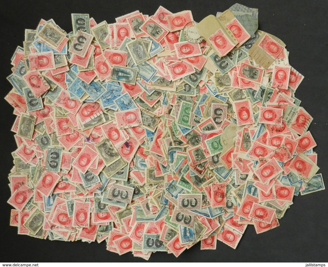 ARGENTINA: Small Box With Over 4,000 Stamps Of The Revolution Centenary, Excellent General Quality. Perfect Lot To Look  - Argentina