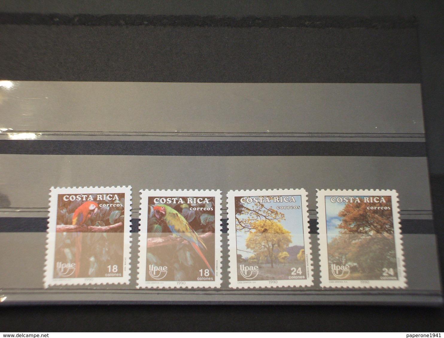 COSTA RICA - 1990 U.P.A.E. 4 VALORI - NUOVI(++) - Costa Rica