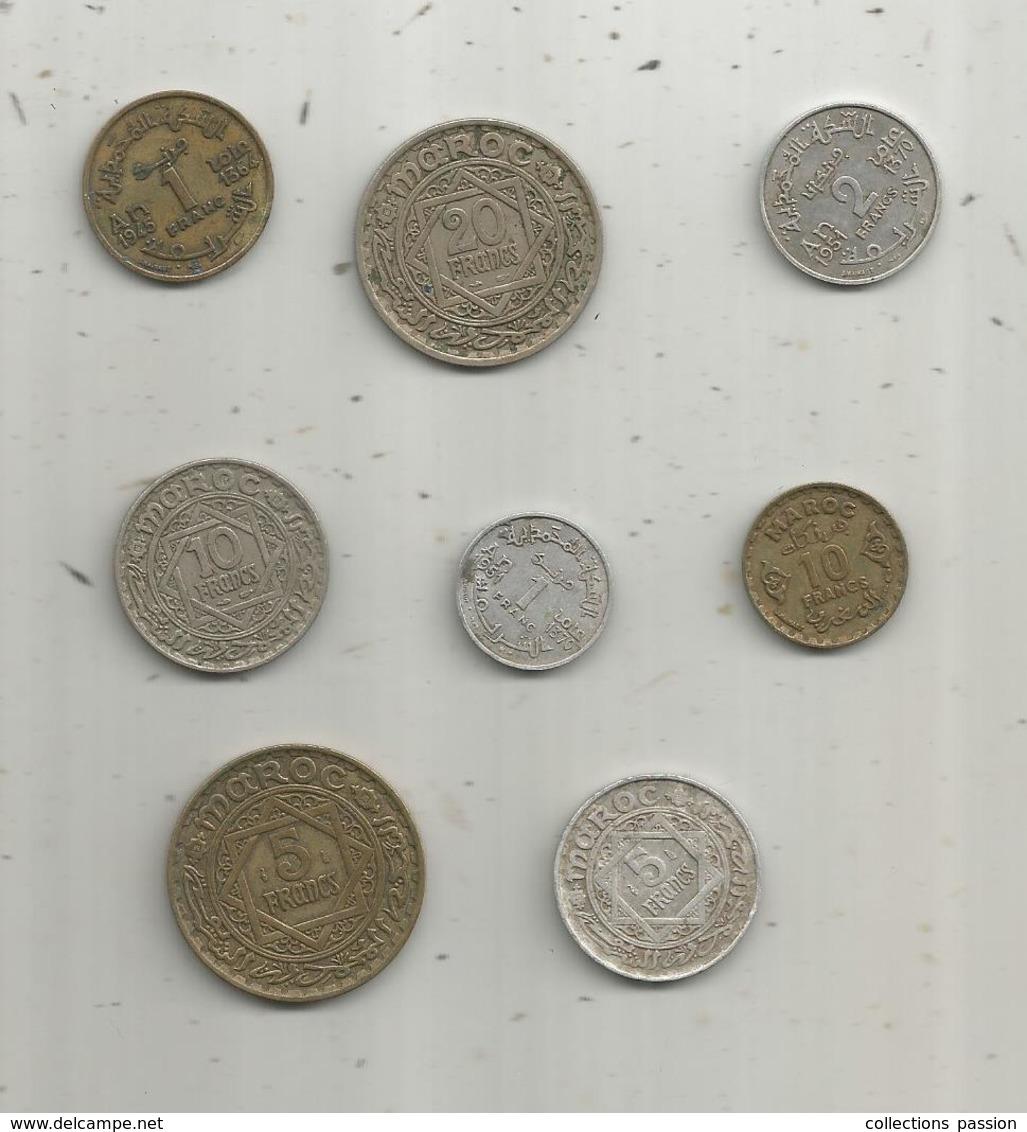 Monnaie , Maroc ,  2 Scans , LOT DE 8 MONNAIES - Kilowaar - Munten