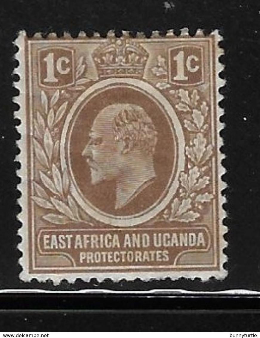East Africa And Uganda Protectorates 1907-08 King Edward VII 1c Mint Hinged - Protectorados De África Oriental Y Uganda