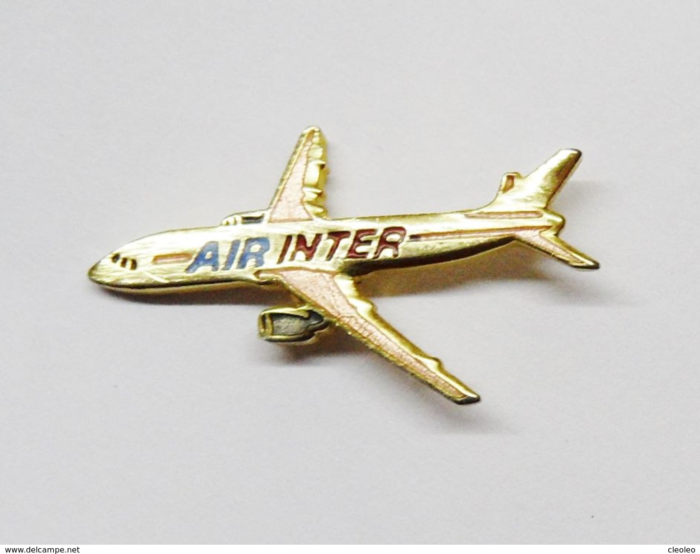Pin's AVION Air Inter Signé Démons Et Merveilles - Avions