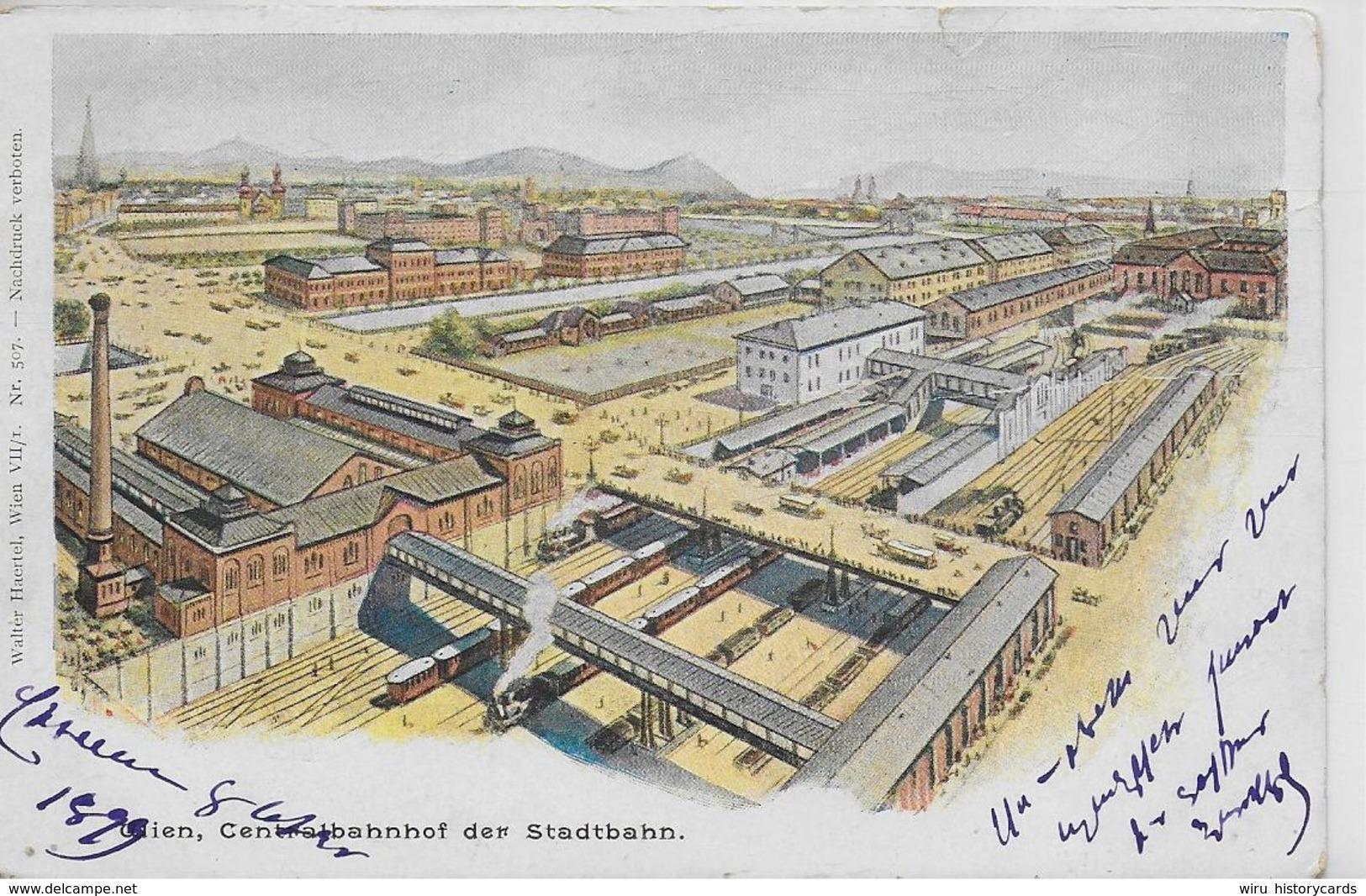 AK 0294  Wien - Centralbahnhof Der Stadtbahn Um 1899 - Wien Mitte
