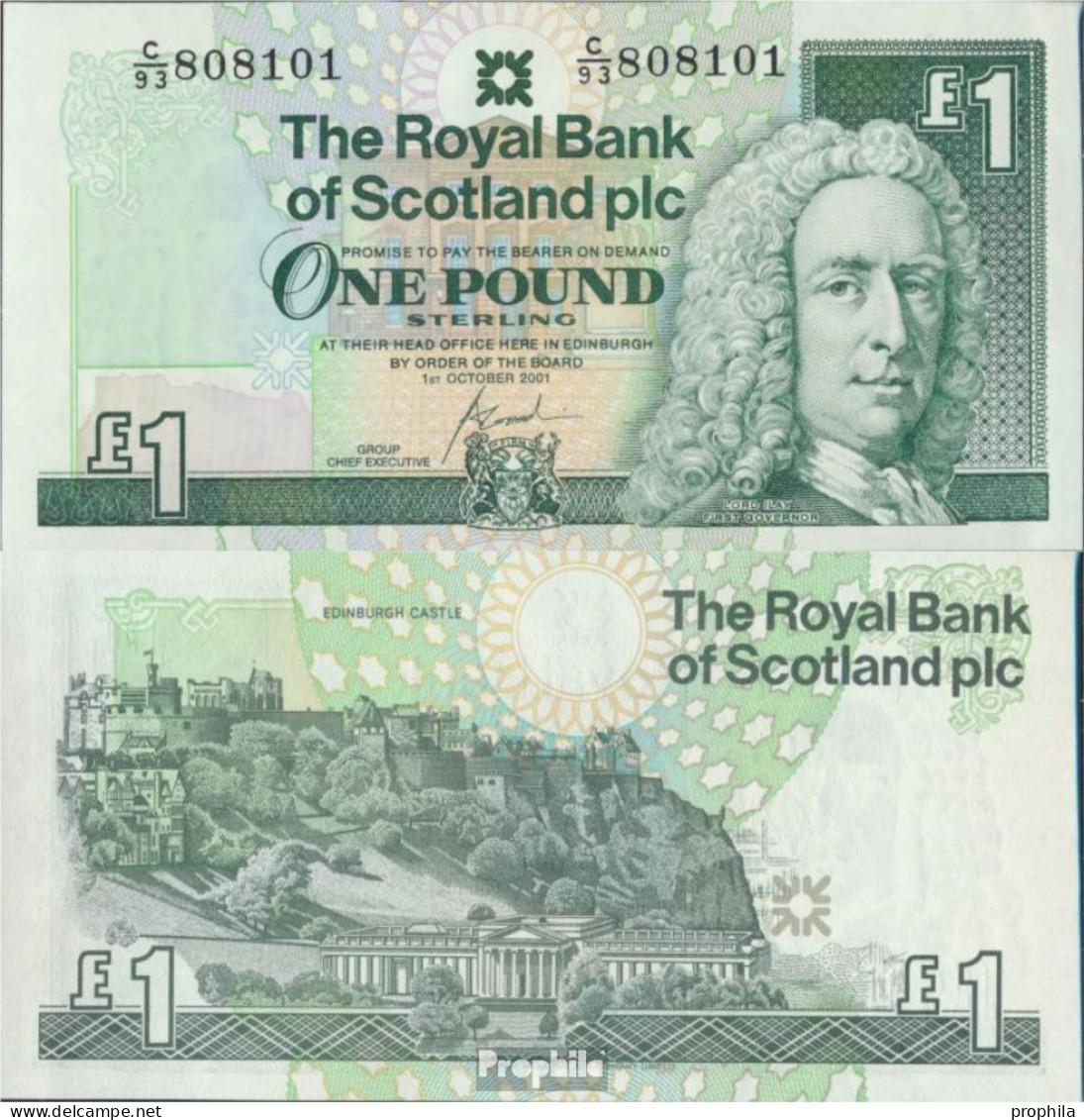 GB - Schottland Pick-Nr: 351e (2001) Bankfrisch 2001 1 Pound - [ 3] Scotland