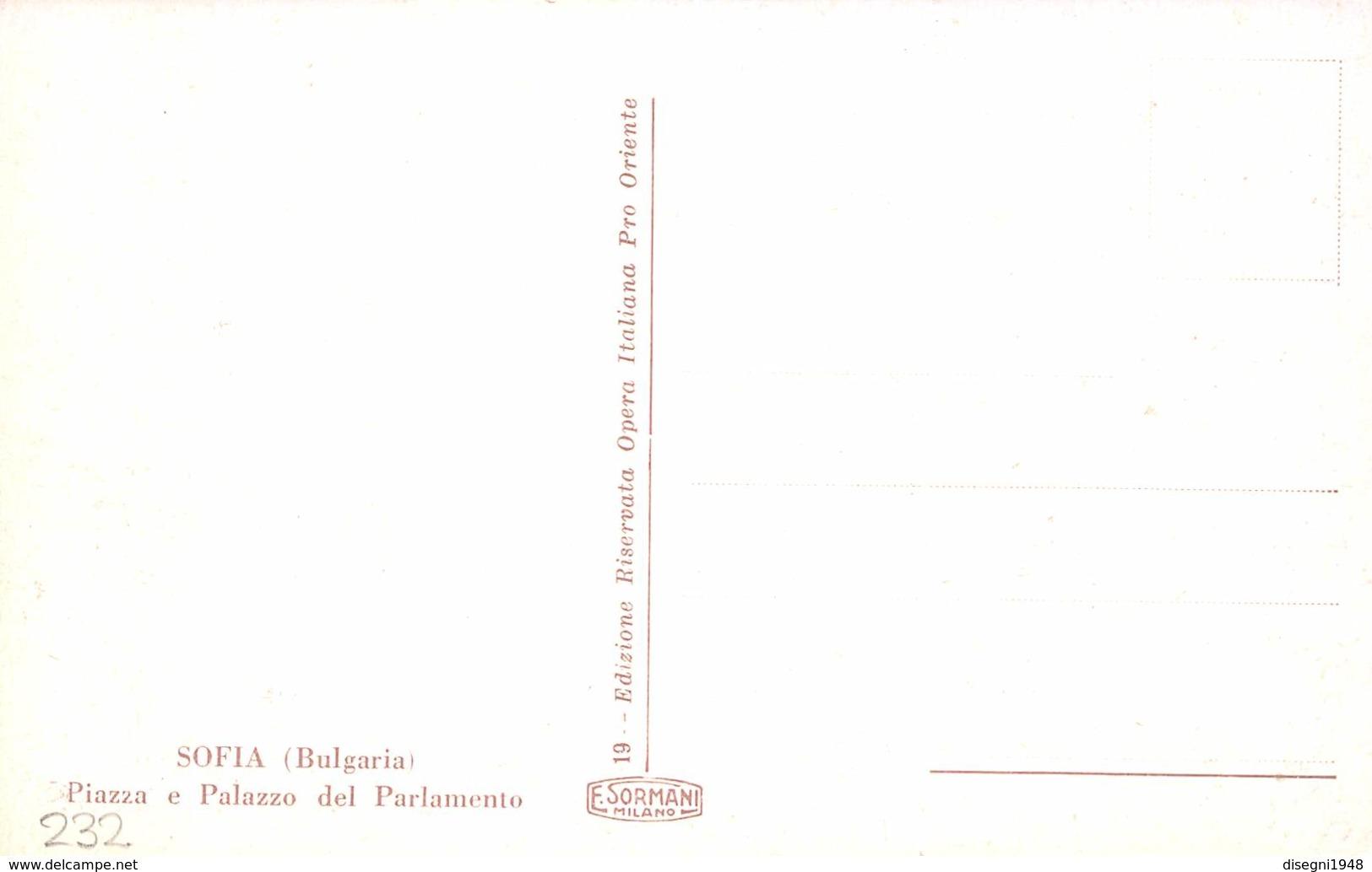 """M08439 """" SOFIA (BULGARIA) PIAZZA E PALAZZO DEL PARLAMENTO """" ANIMATA-CARTOLINA  ORIG. NON SPED. - Bulgaria"""