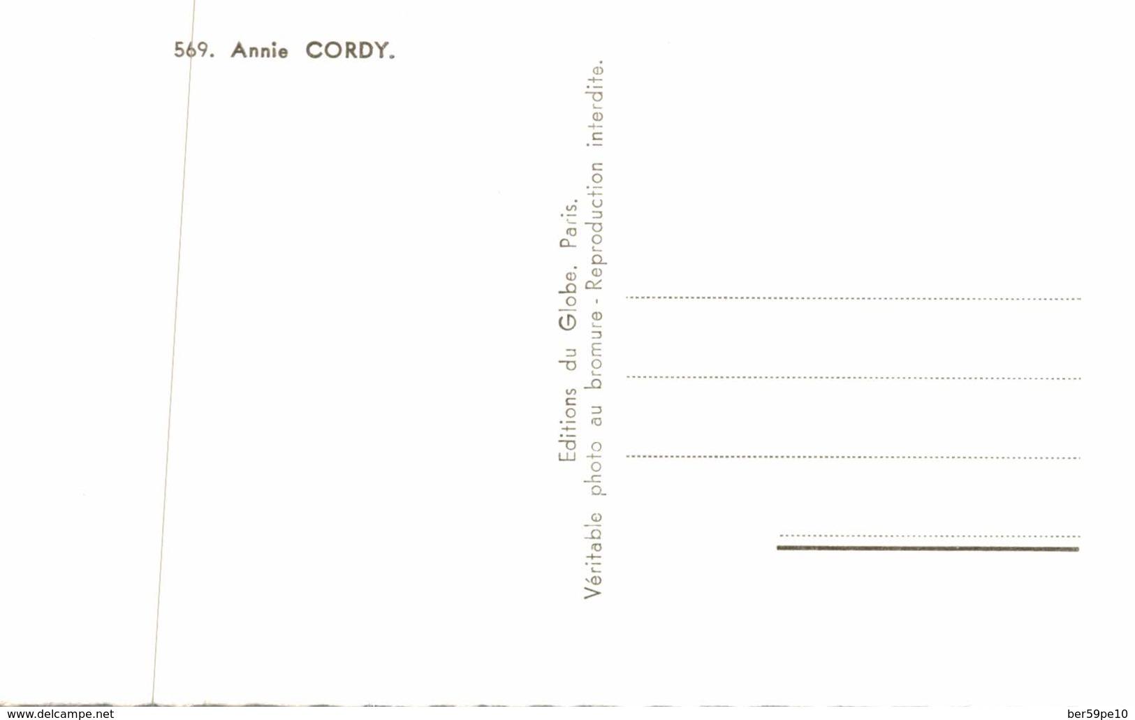 ARTISTE  ANNIE CORDY  STUDIO HARCOURT - Artistes