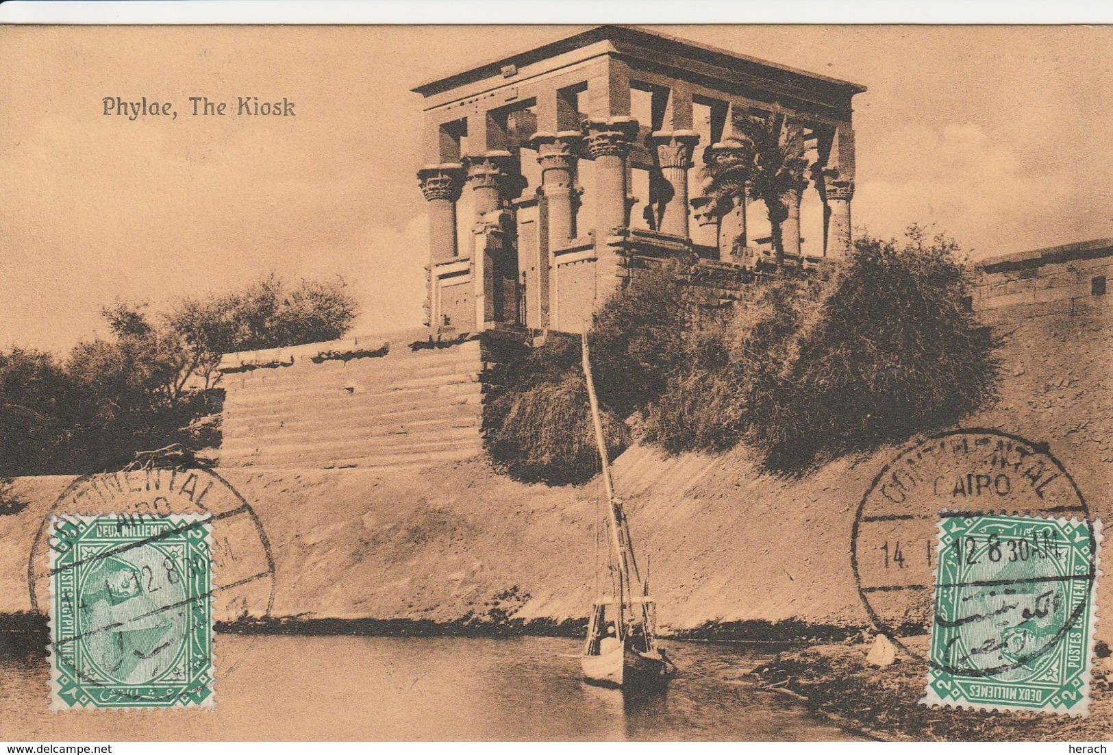 Egypte Cachet Continental Cairo Sur Carte Postale Pour La France 1912 - Egypte